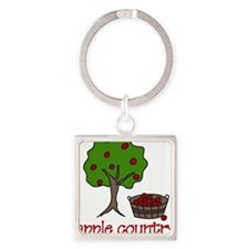 Apple Country Square Keychain
