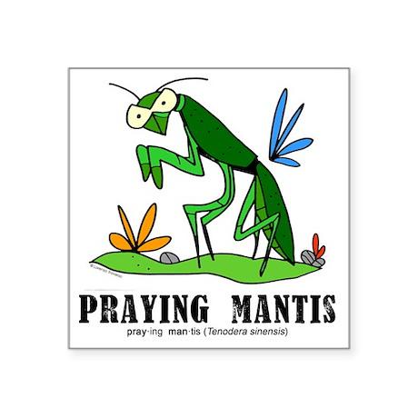 "Cartoon Praying Mantis by L Square Sticker 3"" x 3"""