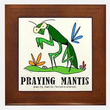 Cartoon Praying Mantis by Lorenzo Framed Tile