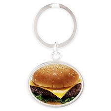 cheeseburger Oval Keychain