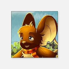 "Market mouse button Square Sticker 3"" x 3"""