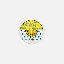 Umbrella Smiley Mini Button