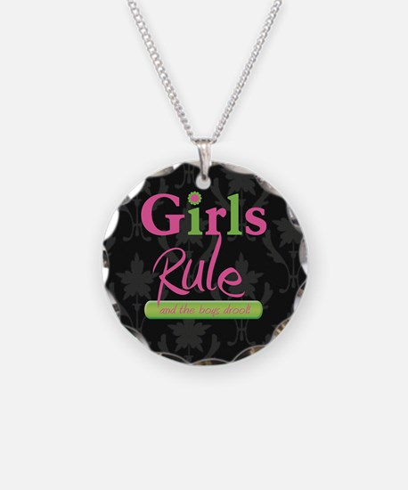 Girls Rule and the boys droo Necklace