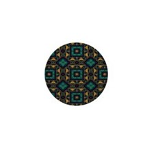 Green and Gold Pattern Mini Button