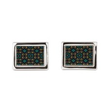 Green and Gold Pattern Cufflinks