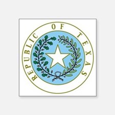 """Great Seal of Texas 1839-18 Square Sticker 3"""" x 3"""""""