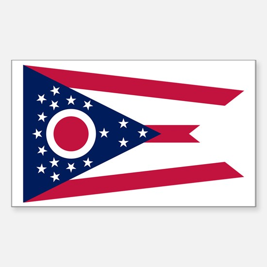 Flag of Ohio Sticker (Rectangle)