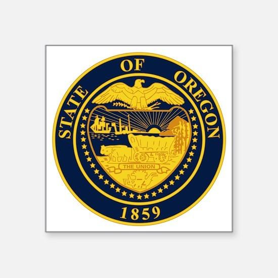 """Seal of Oregon Square Sticker 3"""" x 3"""""""