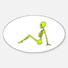 skeletal mud flap girl Decal