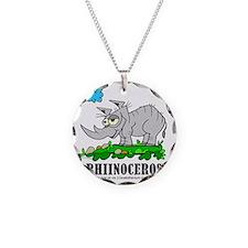 Cartoon Rhinoceros by Lorenz Necklace Circle Charm