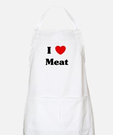 I love Meat BBQ Apron
