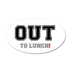 OUT TO LUNCH! Wall Decal