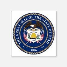 "Great Seal of Utah Square Sticker 3"" x 3"""