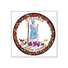 """Great Seal of Virginia Square Sticker 3"""" x 3"""""""