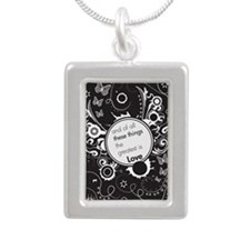 and of all these things  Silver Portrait Necklace