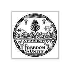 """Great Seal of Vermont Square Sticker 3"""" x 3"""""""