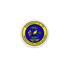 Seal of US Virgin Islands Mini Button