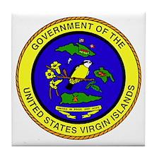 Seal of US Virgin Islands Tile Coaster