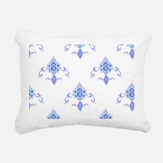 Periwinkle Fleur Rectangular Canvas Pillow