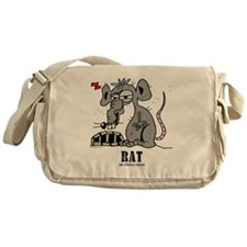 Cartoon Rat by Lorenzo Messenger Bag