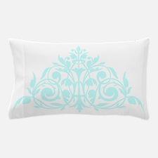 Blue green damask print Pillow Case