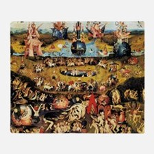 Hieronymus Bosch Garden Of Earthly D Throw Blanket