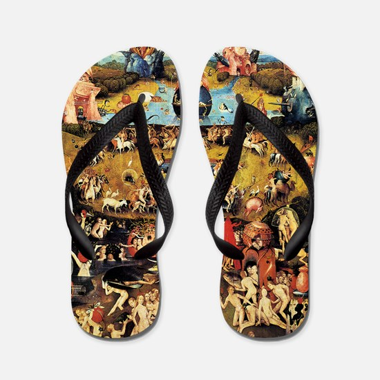 Hieronymus Bosch Garden Of Earthly Deli Flip Flops