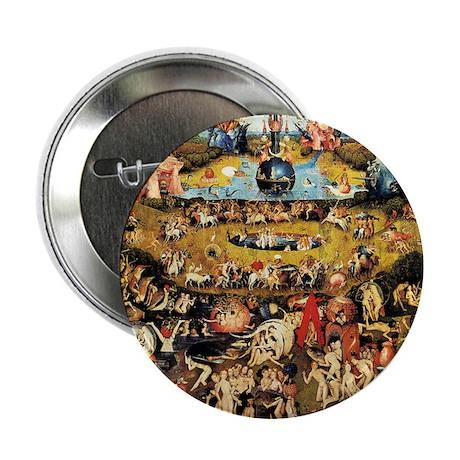 """Hieronymus Bosch Garden Of Earthly De 2.25"""" Button"""