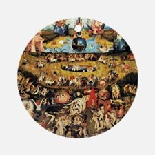 Hieronymus Bosch Garden Of Earthly  Round Ornament