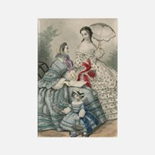 1860 fashion plate Rectangle Magnet