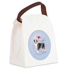 mini amer-round Canvas Lunch Bag