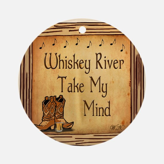 Country Music Coaster Round Ornament