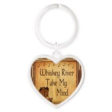 Country Music Coaster Heart Keychain