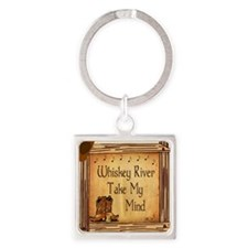 Country Music Coaster Square Keychain