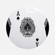Ace of Spades Round Ornament