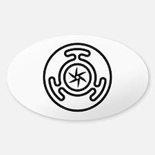 Hecate's Wheel Sticker (Oval)