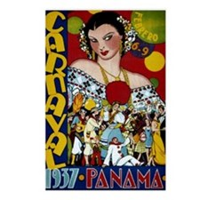 Panama vintage poster-Car Postcards (Package of 8)