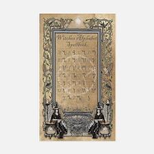 Witches Alphabet Spellbook Jou Decal