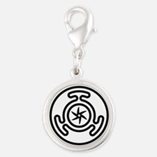 Hecate's Wheel Silver Round Charm