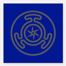 """Hecate's Wheel Square Car Magnet 3"""" x 3"""""""