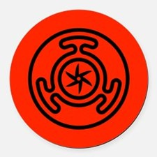 Hecate's Wheel Round Car Magnet