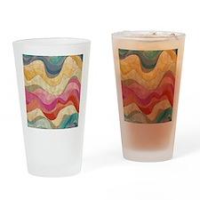 Cute Wavy Pattern Drinking Glass