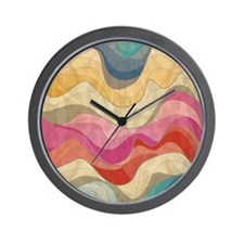 Cute Wavy Pattern Wall Clock