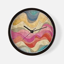 Cute Wavy Pattern Wall Clock