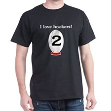 I Love Hookers Rugby T-Shirt