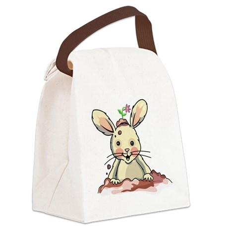 Dirty Bunny Canvas Lunch Bag