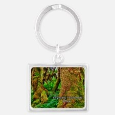 Hoh Rainforest Landscape Keychain