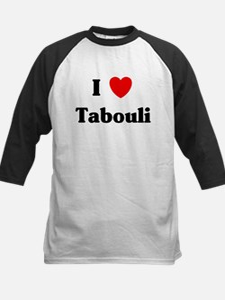 I love Tabouli Kids Baseball Jersey