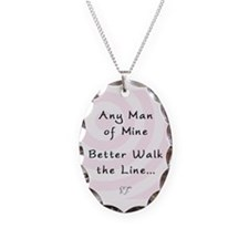 Any Man Of Mine Oval Pendant Necklace