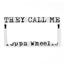 Poppa Wheelie Dirt Bike Motoc License Plate Holder